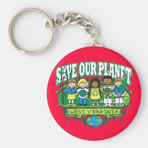 Earth Kids West Virginia Keychains