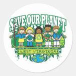 Earth Kids West Virginia Stickers