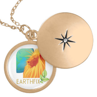 Earth knows gold plated necklace