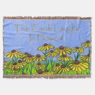 Earth Laughs Flowers~BlackEyed Susan Throw Blanket