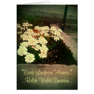 Earth Laughs in Flowers Greeting Card