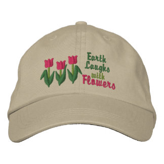 Earth Laughs in Flowers Embroidered Baseball Hat