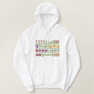 Earth Laughs in Flowers Embroidered Hoodie