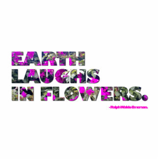 Earth laughs in flowers. Ralph Waldo Emerson quote Photo Sculptures