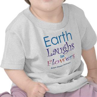 """Earth Laughs In Flowers"" Ralph Waldo Emerson T Shirt"
