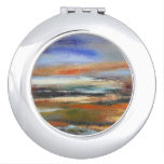 Earth Layers Abstract Compact Mirror