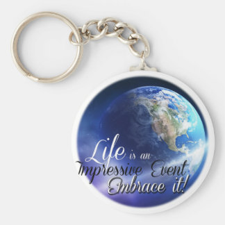 Earth - Liffe is an Impressive  Event Basic Round Button Keychain