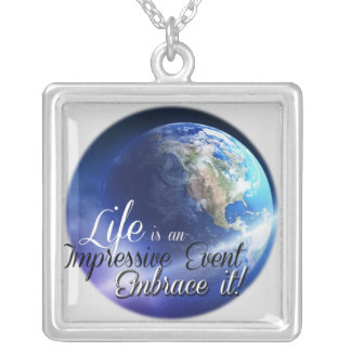 Earth - Liffe is an Impressive  Event Square Pendant Necklace