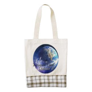 Earth - Liffe is an Impressive  Event Zazzle HEART Tote Bag