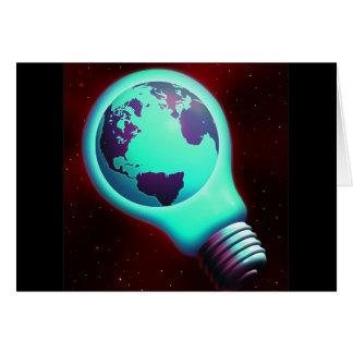 earth light bulb cards