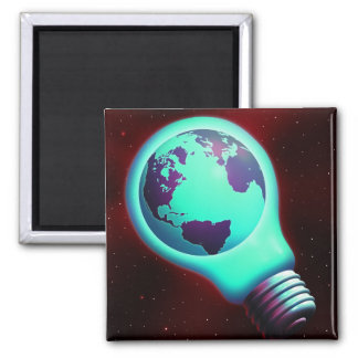 earth light bulb magnet
