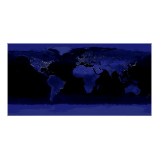 Earth Lights Poster