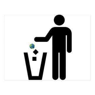 Earth Litter Disposal Postcard