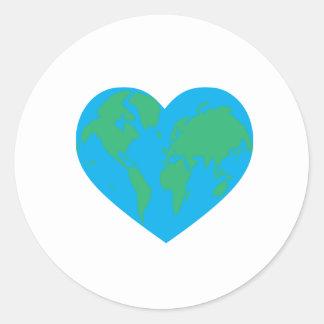 Earth Love Classic Round Sticker