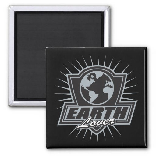 Earth Lover 2 Inch Square Magnet