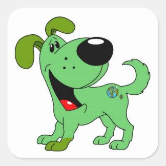 Earth Lover! Pup Square Sticker