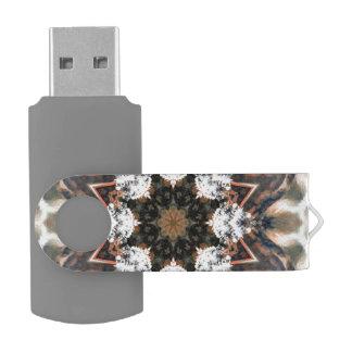 Earth madness swivel USB 2.0 flash drive