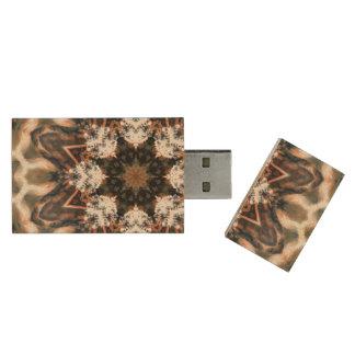 Earth madness wood USB 3.0 flash drive