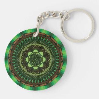 Earth Mandala Acrylic Keychain