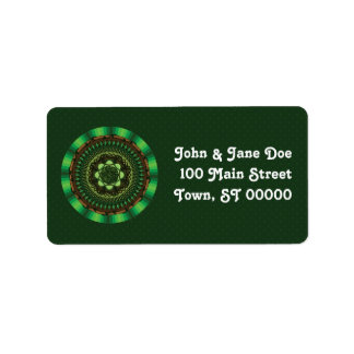 Earth Mandala Address Label