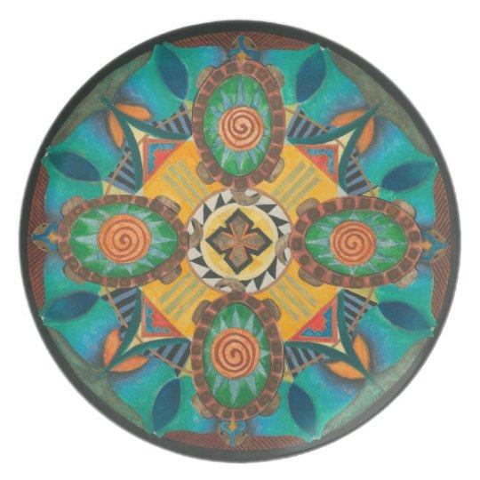 Earth Mandala Art Plate