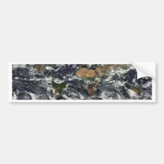 Earth map bumper stickers