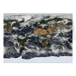 Earth map card