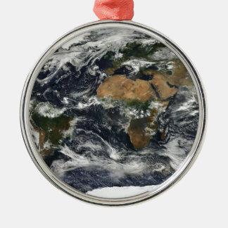 Earth map metal ornament