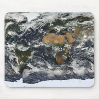 Earth map mouse pad