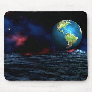 Earth Mars Alien Planet Mouse Pad