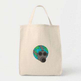 Earth Mask Canvas Bag