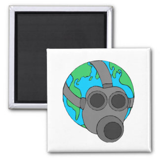 Earth (Masked) 2 Inch Square Magnet