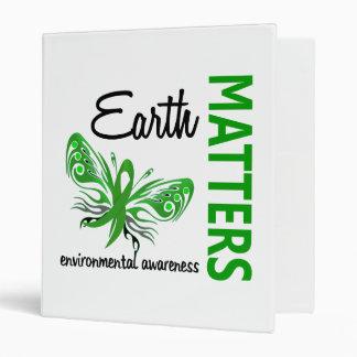 Earth Matters Butterfly Environmental Awareness Binder