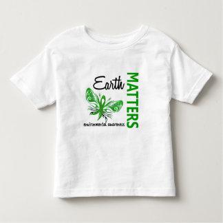 Earth Matters Butterfly Environmental Awareness Toddler T-shirt