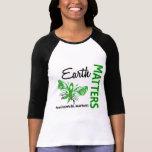 Earth Matters Butterfly Environmental Awareness Shirt