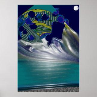 Earth Meeting the Galaxy Print