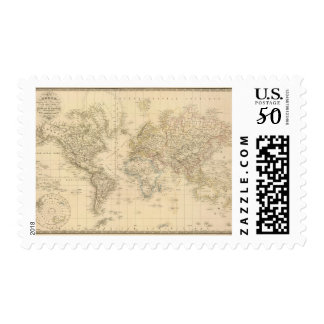 Earth Mercator proj Postage