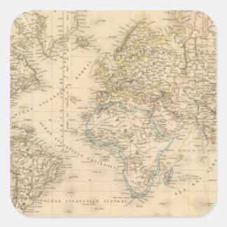 Earth Mercator proj Square Sticker
