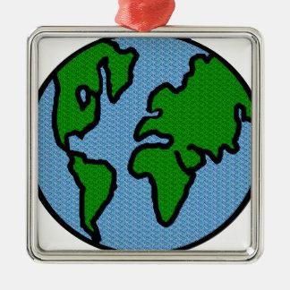 Earth Metal Ornament