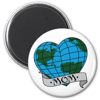 Earth Mom 2 Inch Round Magnet