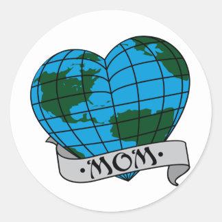 Earth Mom Classic Round Sticker