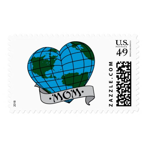 Earth Mom Postage Stamp