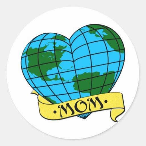 Earth Mom Round Sticker