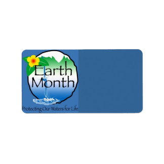 Earth Month Address Label
