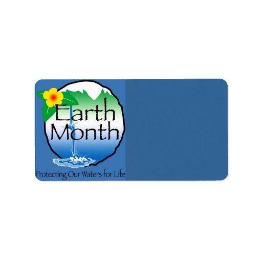 Earth Month Address Label