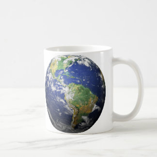 Earth & Moon - 3D Effect - See Both Sides Classic White Coffee Mug