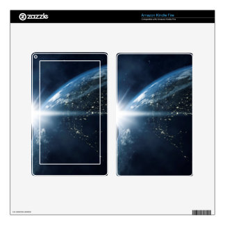 earth moon and sun skin for kindle fire