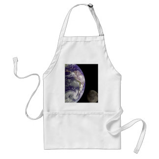 Earth & Moon from Galileo Adult Apron