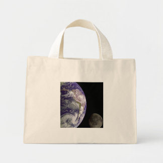 Earth & Moon from Galileo Canvas Bag