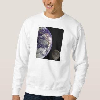 Earth & Moon from Galileo Space Mission Sweatshirt